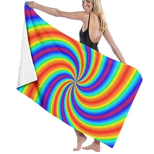 Leo-shop Tie Dye Bunte Linien StrandtuchBad Handtuch HandtuchSunproof BeachQuick Trockentücher Reisetuch