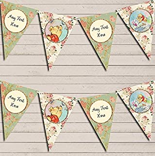 Winnie The Pooh Personalized Children's Birthday Bunting Garland Banner Decoration