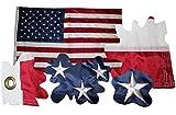 USA Amerika Flagge Fahne gestickte Sterne, Wetterfeste Flagge, US Flag, 90x150 cm Top Qualität alles genäht und gestickt nix gedruckt