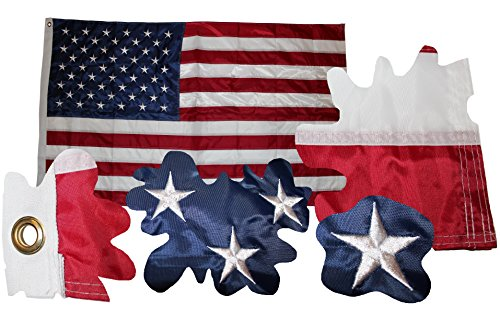 DUNN USA Amerika Flagge Fahne gestickte Sterne, Wetterfeste Flagge, US Flag, 90x150 cm Top Qualität Alles genäht und gestickt nix gedruckt