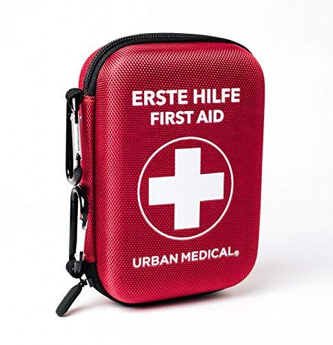 Premium Erste Hilfe Set aus Deutschland | Urban Medical® | DIN 13167 GRATIS Fahrrad Flickzeug und Rettungsdecke | Camping Sport Reisen Bike & Zuhause