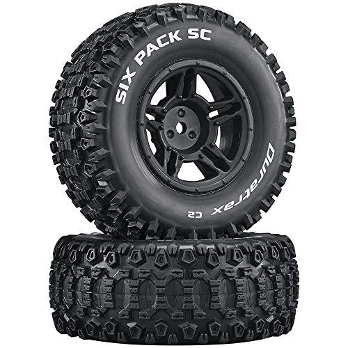 Duratrax Six-Pack SC C2 Mounted Tires: Slash 4x4 Blitz Front Rear (2), DTXC3861