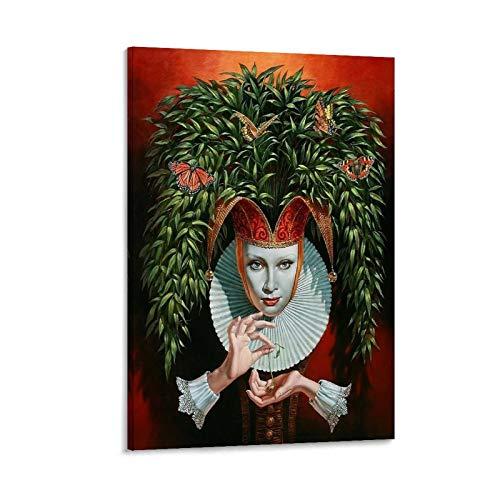 LOPOA Michael Cheval - Poster decorativo da parete per soggiorno, camera da letto, 60 x 90 cm