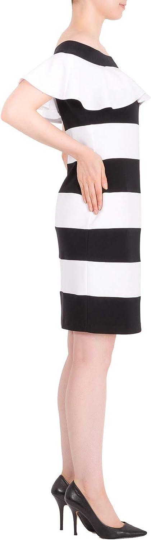Joseph Ribkoff Black Vanilla Dress Style 191040