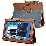 AFesar Housse Samsung Galaxy Note 10.1 (2012 Edition) GT N8013 N8000 - Housse en Cuir Housse Folio...