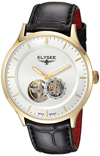 Elysee, 15102, unisex, volwassene analoog automatisch horloge met lederen armband