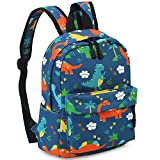 Zicac Children's Cute Canvas Backpacks Mini Rucksack Bag (M, Blue Dinosaur)