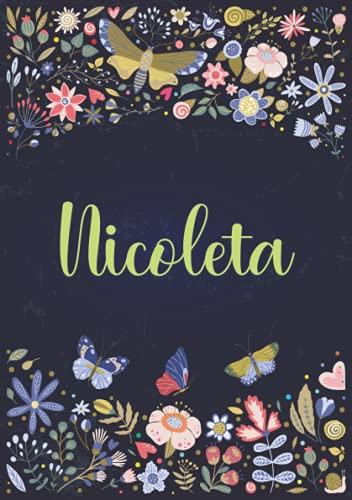 Nicoleta: Cuaderno de notas A5 | Nombre personalizado Nicoleta | Regalo de...