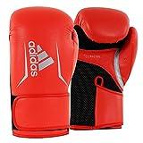 adidas Speed 100 - Guantes de Boxeo para Mujer, Color Rojo, Negro y Plateado