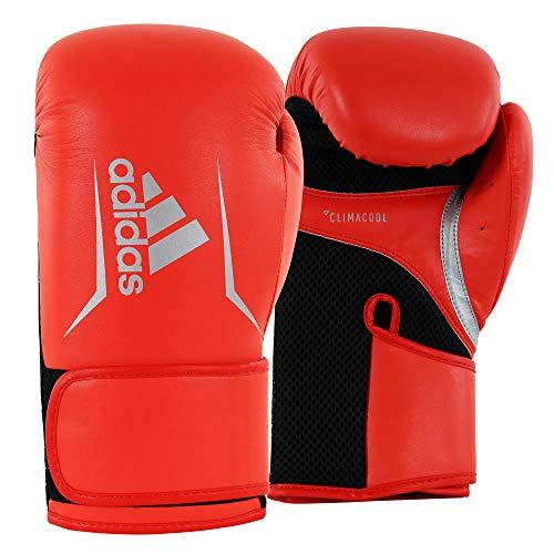 adidas Damen Speed 100 Women Boxhandschuhe, rot/schwarz/Silber, 8 oz