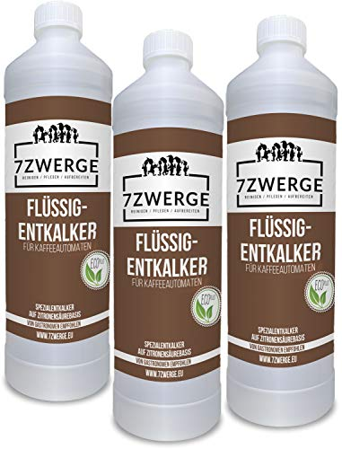 Entkalker für Kaffeevollautomat 3 x 1000 ml I Kaffeemaschine I Kaffeepadmaschine I Wasserkocher I Universal Kalklöser I Kalk-Reiniger I Kalk-Entferner