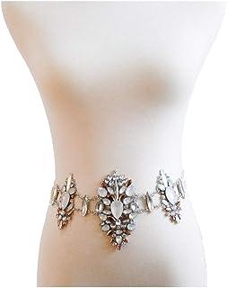 Hexiaoyi Jewelry Bikini Sexy Waist Chain Body Chain For Women (Color : Beige)
