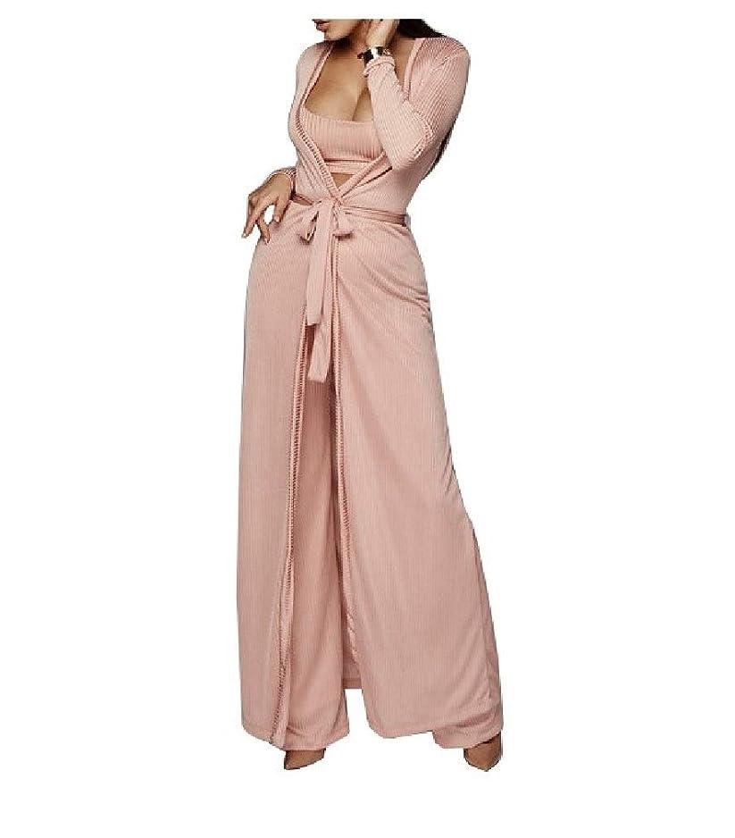 からかう成熟北米Women Casual Tank Top Long Cardigan Cover up and Pants Outfits