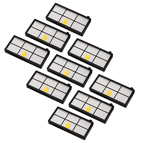 Neutop Filter Replacement for iRobot Roomba 800 and 900 Series 850 860 870 877 880 890 891 805 960 980 981 985 Robot Vacuums, 9-Pack.