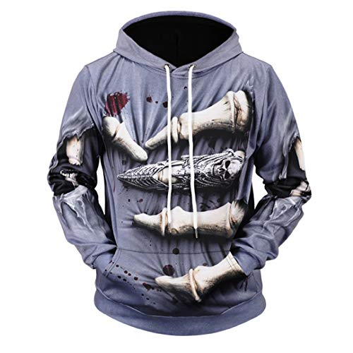 RE-jiupoo 3D Printed Hoodies Male Hooded Large Size Loose Fat Sweatshirts Swag Skull Hoody Black Men's Clothing HD0050 XXXL