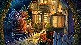 YUBYUB Puzzle 1000 Piezas de Madera Juguetes de Entretenimiento Adulto Especial Graduación Cumpleaños Regalo Hogar Decor Flores de Arte de la casa/75 * 50 CM