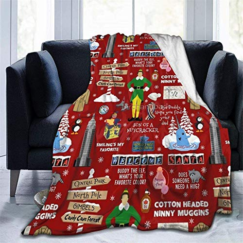 "Todeyya Buddy The Christmas Throw Blanket Flannel Fleece Air Conditioning Quilt Best Gift Lightweight Cozy Plush Blanket for Sofa Chair Bedroom Small 50""X40"""