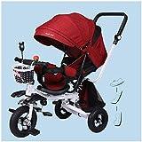 HBSC Triciclo para niños Baby Trike Triciclo Carro de Bebe Plegable Reclinado...