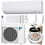 DAIKIN 24,000 BTU 19 SEER Wall-Mounted Ductless Mini-Split A/C Heat Pump System Maxwell 15-ft Installation Kit, Wall Bracket, and Line Set Cover Kit (230V) 12 Year Limited Warranty