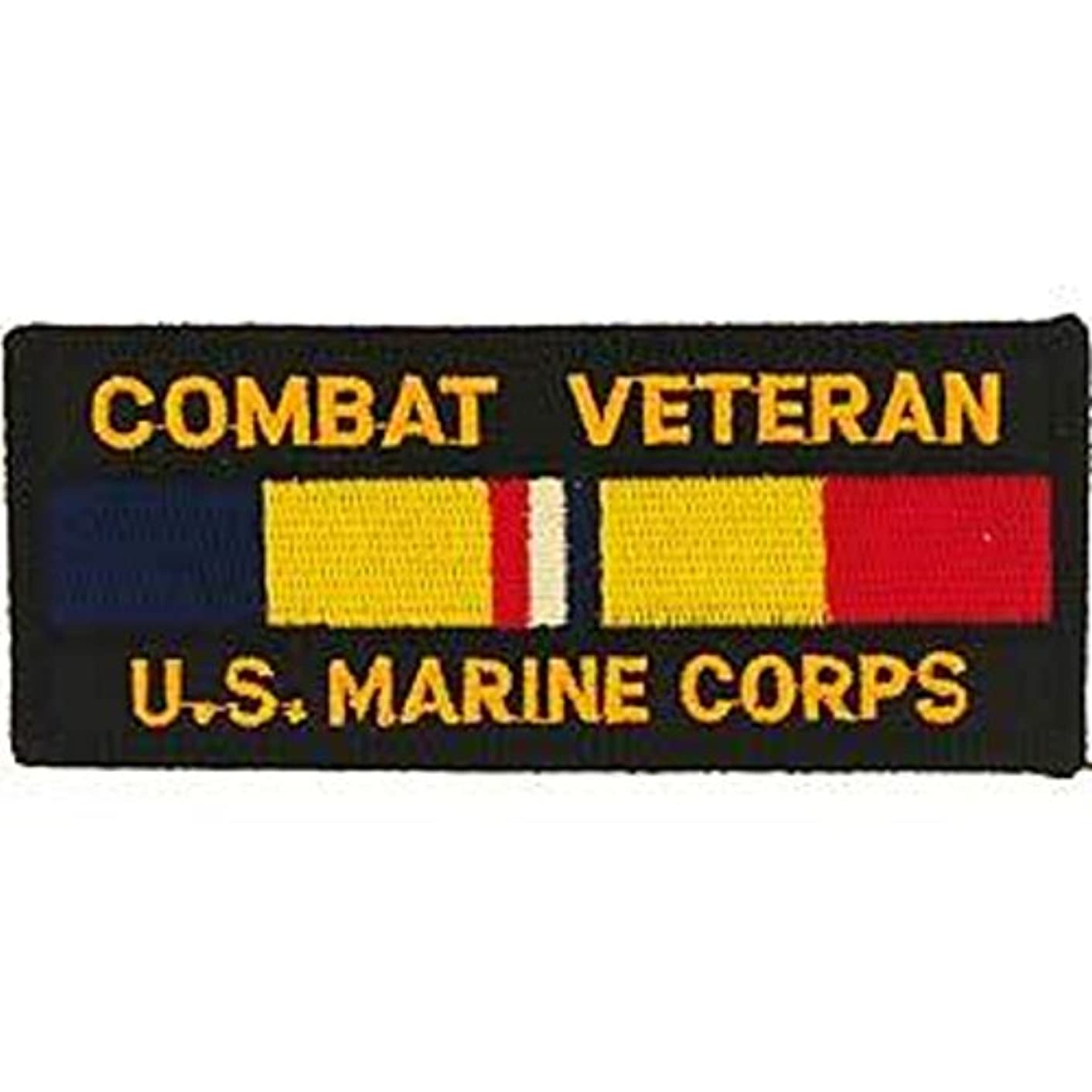 EagleEmblems PM1296 Patch-USMC,Combat Veteran (1.75x4.25'')