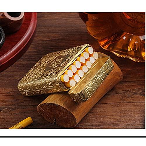 DOFCOC Caja De Cigarrillos Caja De Metal Plateado con Capacidad para 14 Cigarrillos De Tamaño Normal Peaky Blinders Mercancía Hombres Fumando Bonito Regalo