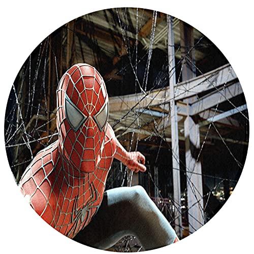 Cute Pillow Grand tapis Spiderman en coton lavable pour salon, chambre à coucher, salle de jeux