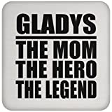 Gladys The Mom The Hero The Legend - Drink Coaster ドリンクコースター - 誕生日 クリスマス プレゼント