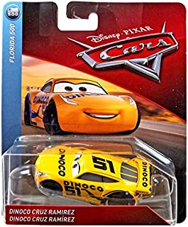 Disney/Pixar Cars Dinoco Cruz Ramirez Florida 500 Series 1:55 Scale Collectible Die Cast Model Car