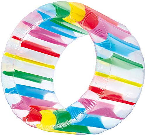 infactory Kinderspielzeug: Aufblasbares Kinder-Zorbing-Rad 72 cm Innendurchmesser & 13 Bällen (Wasser Spielzeug Zorb, aufblasbar)