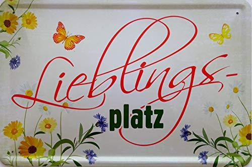 vielesguenstig-2013 Blechschild Schild 20x30cm - Lieblingsplatz Garten Blumen Freizeit Feierabend