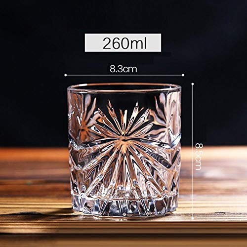 BQP 6 Stück/Set Whisky Wein Glas Bier Saft Becher Whiskey Brandy Wodka Gläser 11 Optionen Transparent Bar Club Küche Dekor, multi, 6 Pcs