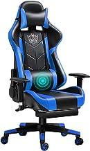 Krzesło Do Gier Z Podnóżkiem Wygodne Ergonomiczne Wysokiej Wstecz Regulowane Regulowane Krzesło Biurowe Pu Skórzane Krzesł...