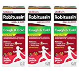 Robitussin Children's Cough & Cold Long Acting 3 Pack of 4 Fl. Oz. Box, 12 Fluid Ounce