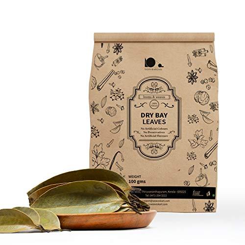 looms & weaves - Organically Grown Dry Bay Leaves -100 gm