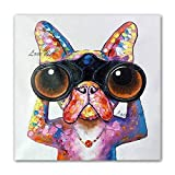 N / A Pet Dog Oil Painting Canvas Picture Animal Oil...