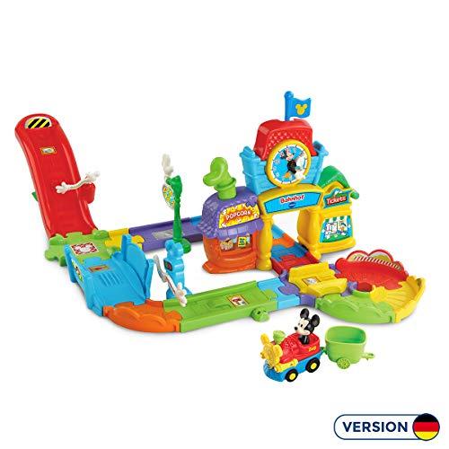 Vtech 80-512204 TUT Baby Mickys Bahnhof Flitzer Fahrzeuge Babyauto, Multicolor