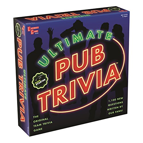 Ultimate Pub Trivia Team Trivia Game, Over 1000 Questions for Weekly Party Game Nights and Live Stream Pub Quiz Events, Perfect for Ages 12 and Up and 4 or More Players from University Games