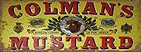 メタルティンサインインチチルコルマンマスタードメタルファームハウスサインファームハウスキッチンヴィンテージプレート壁の装飾コーヒーショップバークラブ用プラーク