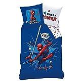 Familando 042619 - Set di Biancheria da Letto con Motivo Spiderman, 135cm x 200cm + 80 cmx 80cm, 100%Cotone