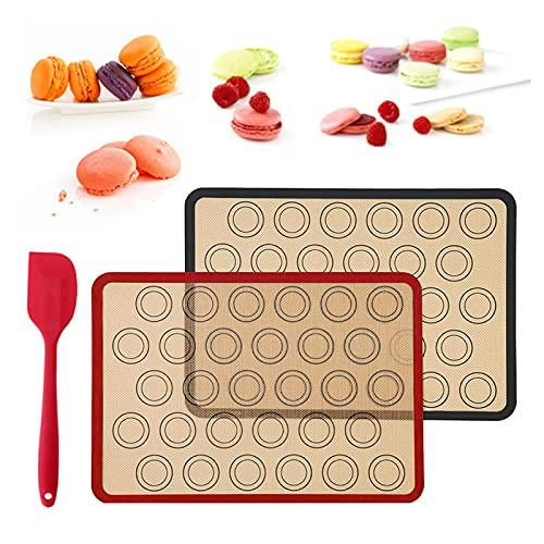 Fyfjur Baking Mat Silicone, Tapete de Silicona Antiadherente, Alfombrilla de Silicona para Hornear Reutilizable, Bpara Hornear, Antideslizante, Lavable, sin BPA