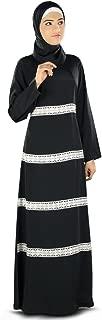 MyBatua Women's Graceful Abaya Dress Casual & Daily Wear Color in Black