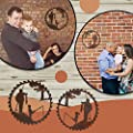 Sjzsyx 2PCS The Newest Father's Day Unique Gift Metal Art Fishing Wall Decor, Creative Metal Art Fishing Design Pendant Crafts - Father's Day Gift from Daughter and Son- Home Garden Decoration