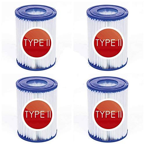 filtro de piscina tipo 2,Cartucho de filtro de piscina tipo II,Cartuchos de filtro para piscina For Bestway II, accesorio para piscina, filtro antisuciedad, cartucho de filtro de repuesto (4-PCS)