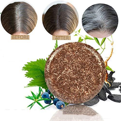 QWCZY Haarverdunklungs Shampoo Bar, Bio-Verdunkelung Shampoo Natürliche Haarbehandlung - Shampoo Bars Für Haare-Natürlicher Organischer Conditioner Und Reparatur Essence (2 Stück)