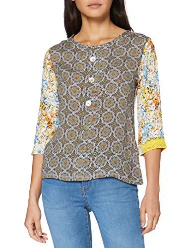 rich&royal Damen Longsleeve printmix Langarmshirt, Mehrfarbig (Original 999), X-Large (Herstellergröße: XL)