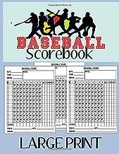 Baseball Scorebook Large Print: Notebook Baseball Scorebook Large Print Size 8,5 x 11 in Perfect for Coaches and Fans