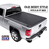Gator ETX Soft Roll Up Truck Bed Tonneau Cover   53109   fits 14-18, 2019 Limited/Legacy GMC Sierra & Chevrolet Silverado 1500 5'8' Bed   Made in the USA