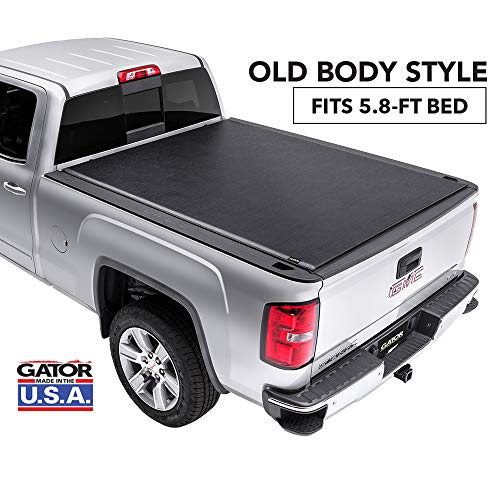 Gator ETX Soft Roll Up Truck Bed Tonneau Cover | 53109 | fits 14-18, 2019 Limited/Legacy GMC Sierra & Chevrolet Silverado 1500 5'8' Bed | Made in the USA