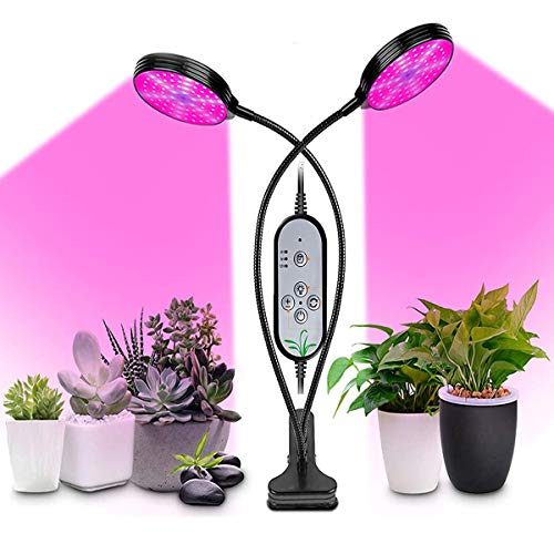 Pflanzenlampe Grow Light, 711light 2 Heads Pflanzenlampe Led, Wachstumslampe Vollspektrum Grow Lampe, Plant Lights für Zimmerpflanzen