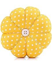 Alfombrilla de coser Costura floral Diseño de calabaza Kit de costura Alfileres de almacenamiento para la bandeja extraíble Alfiletero incorporado Cojín Nociones Paquete Muñequera Decoración(#3)